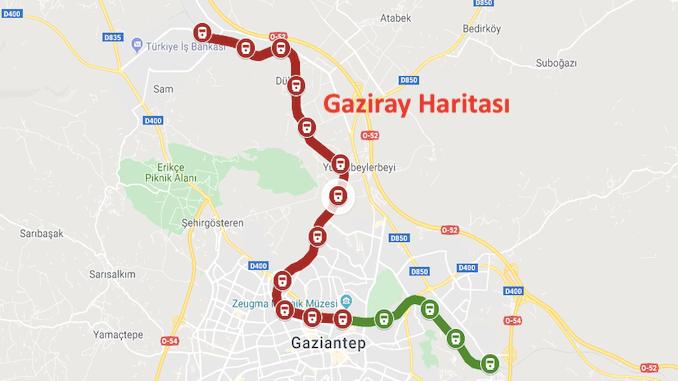Kort over Gaziray