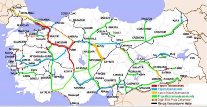 Kayseri Yerköy High Speed ​​Railway Line