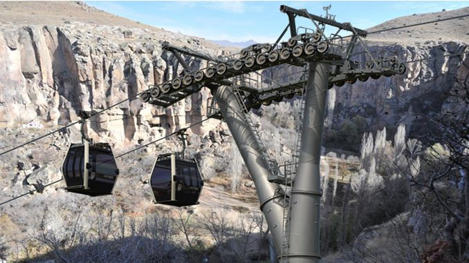 minister ersoy has a work on the cable car in ihlara valley