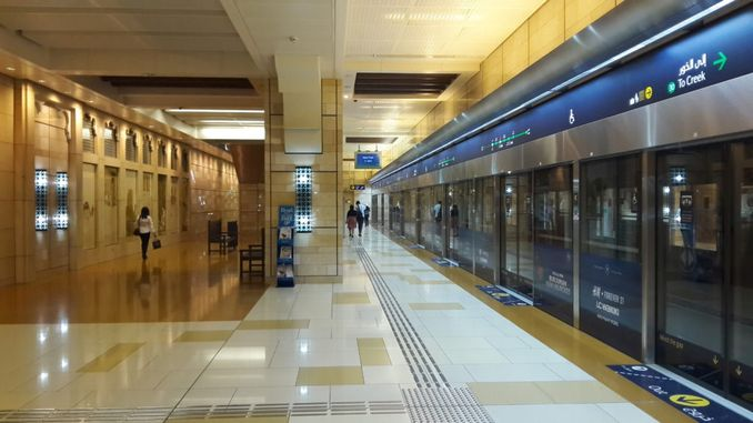 turkish company makes the ceilings of the dubai subway