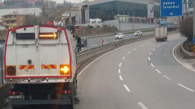 gebzede d highway is cleaned every day