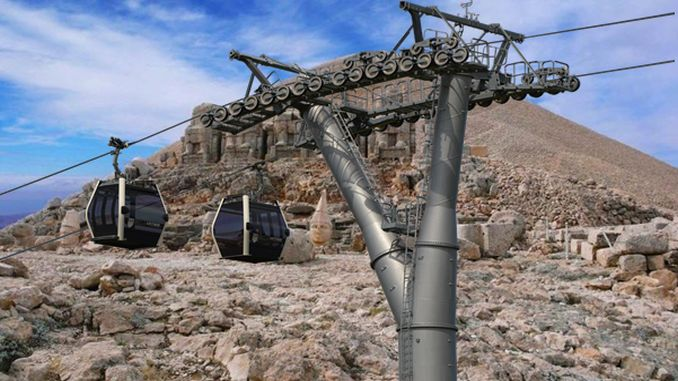 nemrut mountain ropeway project in parliament gundeminde