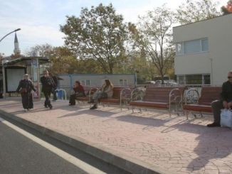benches were placed at the mobile stops built on salim dervisoglu street