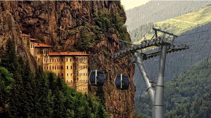 sumela cable car project comes to life