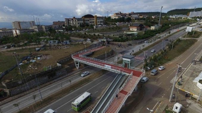 temporary route to umuttepe road due to the work of ustgecit