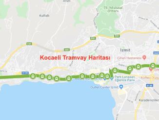 Kocaeli tramvay haritasi