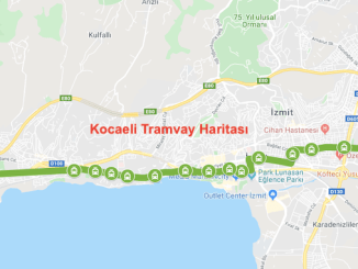 Kocaeli spårvagnskarta