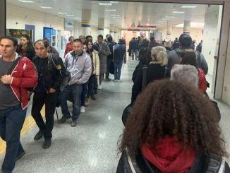 drošības rinda ankaras metro stacijās