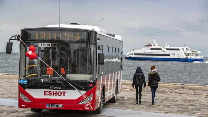 eshot parkı yeni yerli istehsal avtobusu