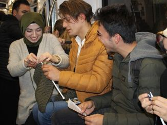 orgi orduler on the tram for awareness