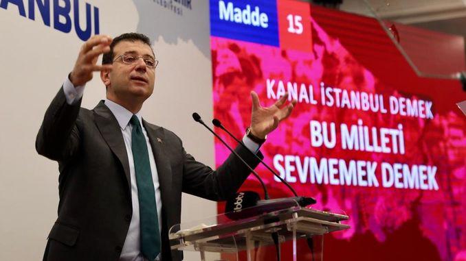 imamoğlu, kanalın istanbul layihəsinə qarşı olduğunu izah etdi