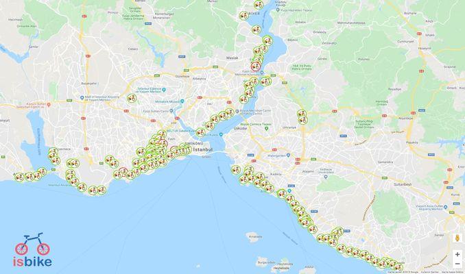 MapSBİKE Khariidadda Codsiga Baaskiilka Mobilada