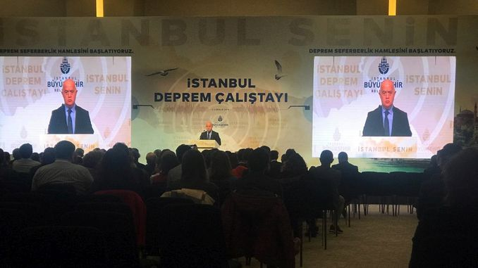 इस्तंबूल भूकंप मंच स्थापित केले जात आहे
