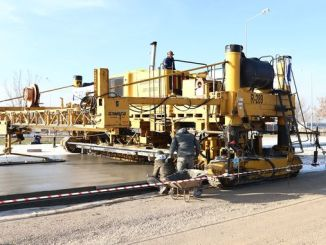 concrete road application was made for the first time in Konya