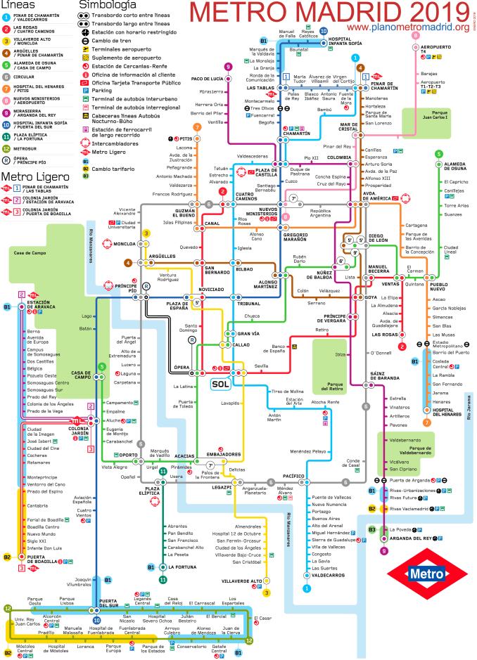 मेट्रो मैड्रिड मैप