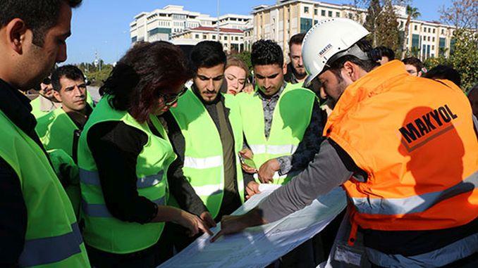 Ingenieur Kandidaten Antalya Stage Rail System-Projekt geprüft
