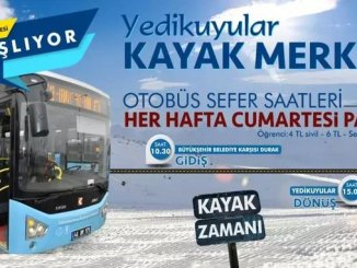 Yedikuyular Ski Center Bus Schedules Start