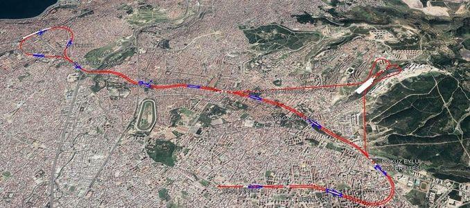 Buca Metrosu Haritası
