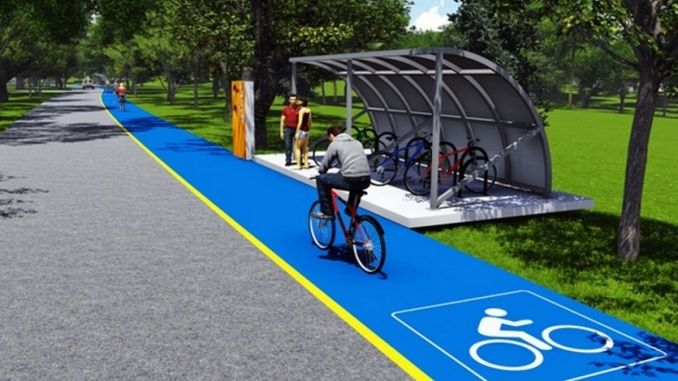 atil train line becomes a bicycle and walking route
