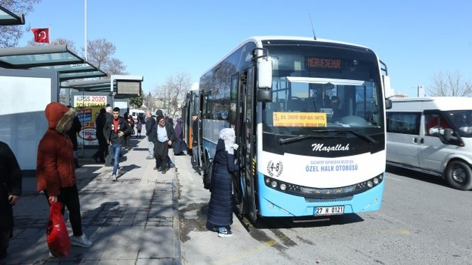 gaziantep blue private public buses are going to the new system