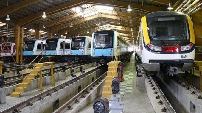 Domicil Lokomotiven a Wagonen, déi op den Iraner Eisebunner ginn