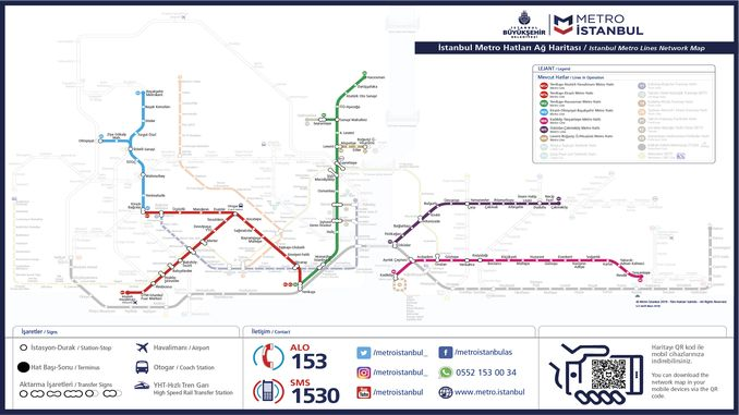 伊斯坦布尔地铁地图