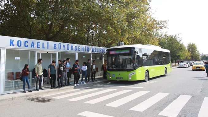 route and time of the bus lines of Kocaelide and No. changed
