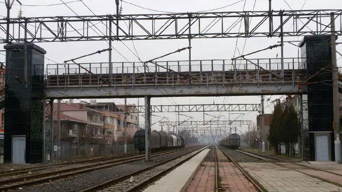 muratli train station upper gate bridge service was renewed