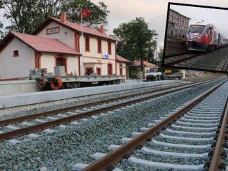 Samsun sivas proba de liña de ferrocarril fíxose