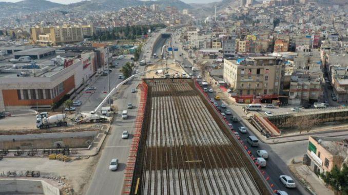 Каракоюнлу гүүрийн уулзвар ба виадукт бетон цутгах ажил