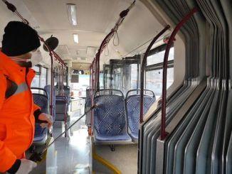 Trabzon मा सार्वजनिक यातायात वाहनहरु कीटाणुरहित