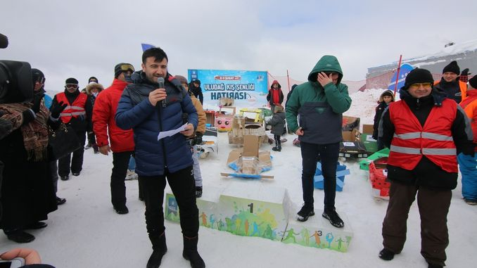 Uludag Winter Festival Cardboard Sled Competition Has Breaked