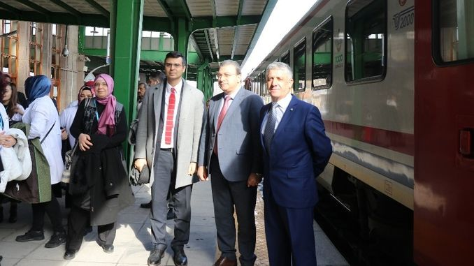 health awareness in afyonkarahisar train station