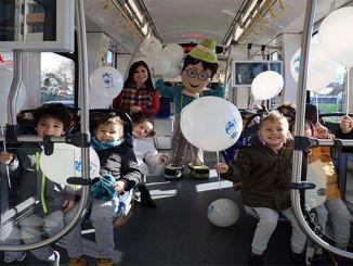 Kindergarten kids took a city tour with Akcaray