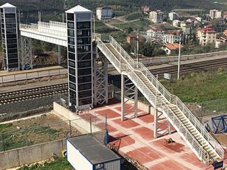 Construction of pedestrian overpass on ankara kayseri railway line as a result of the tender