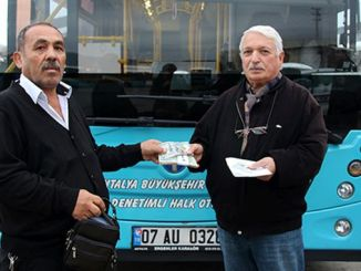 Sample behavior from Antalya private public bus