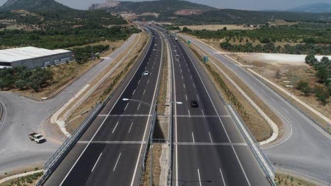 Die Taste für die Autobahn Bursa Cevre wird gedrückt
