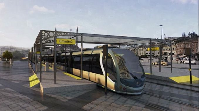 eminonu alibeykoy tram line will be put into service at the end