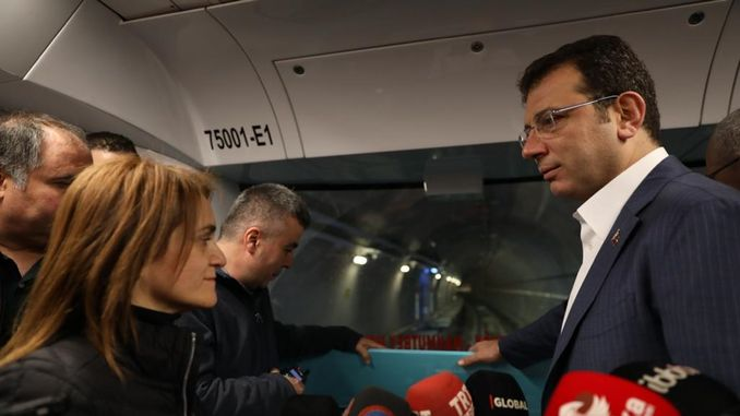 imamoglu mecidiyekoy mahmutbey carried out the first test pack on the metro line