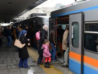 Istanbul metro car is shared