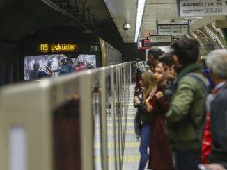Die Istanbuler U-Bahn befördert im Dezember Millionen Passagiere