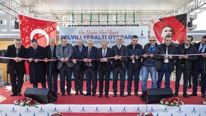 Karabaglar cypress underground car park opened