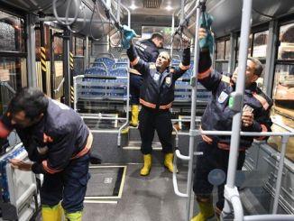 Sanliurfa सार्वजनिक यातायात वाहनहरु अग्रभूमि मा स्वच्छता राख्नु पर्छ
