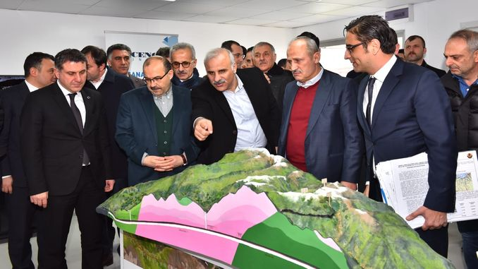 Percentage of the construction of the zigana tunnel is completed