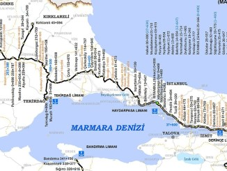 Map of TCDD Marmaray
