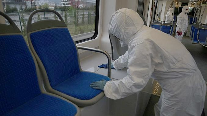 akcaray trams are disinfected every day against coronavirus