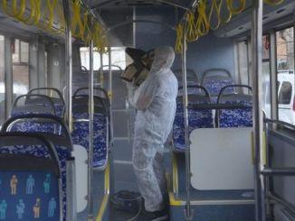 Alanya'daki ictimai nəqliyyat vasitələrinə Korona qarşısının alınması