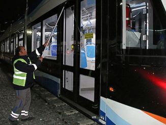 Antalya public transportation vehicles and closed stops are disinfected