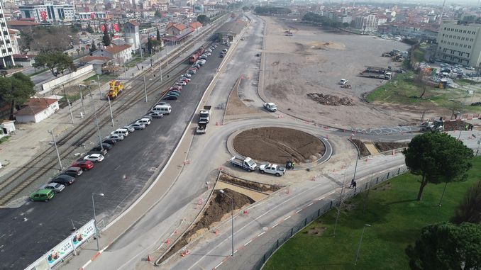 work on balikesir train station continues to the last face