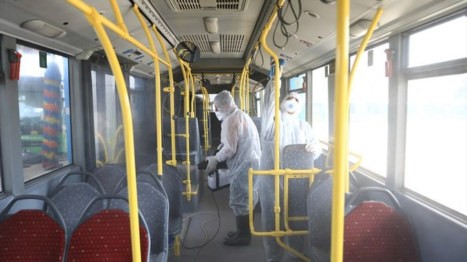maritime public transport vehicles are disinfected